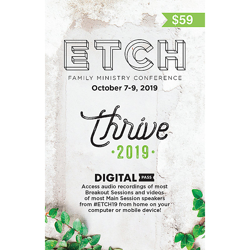 2019 ETCH Family Ministry Conference Digital Pass