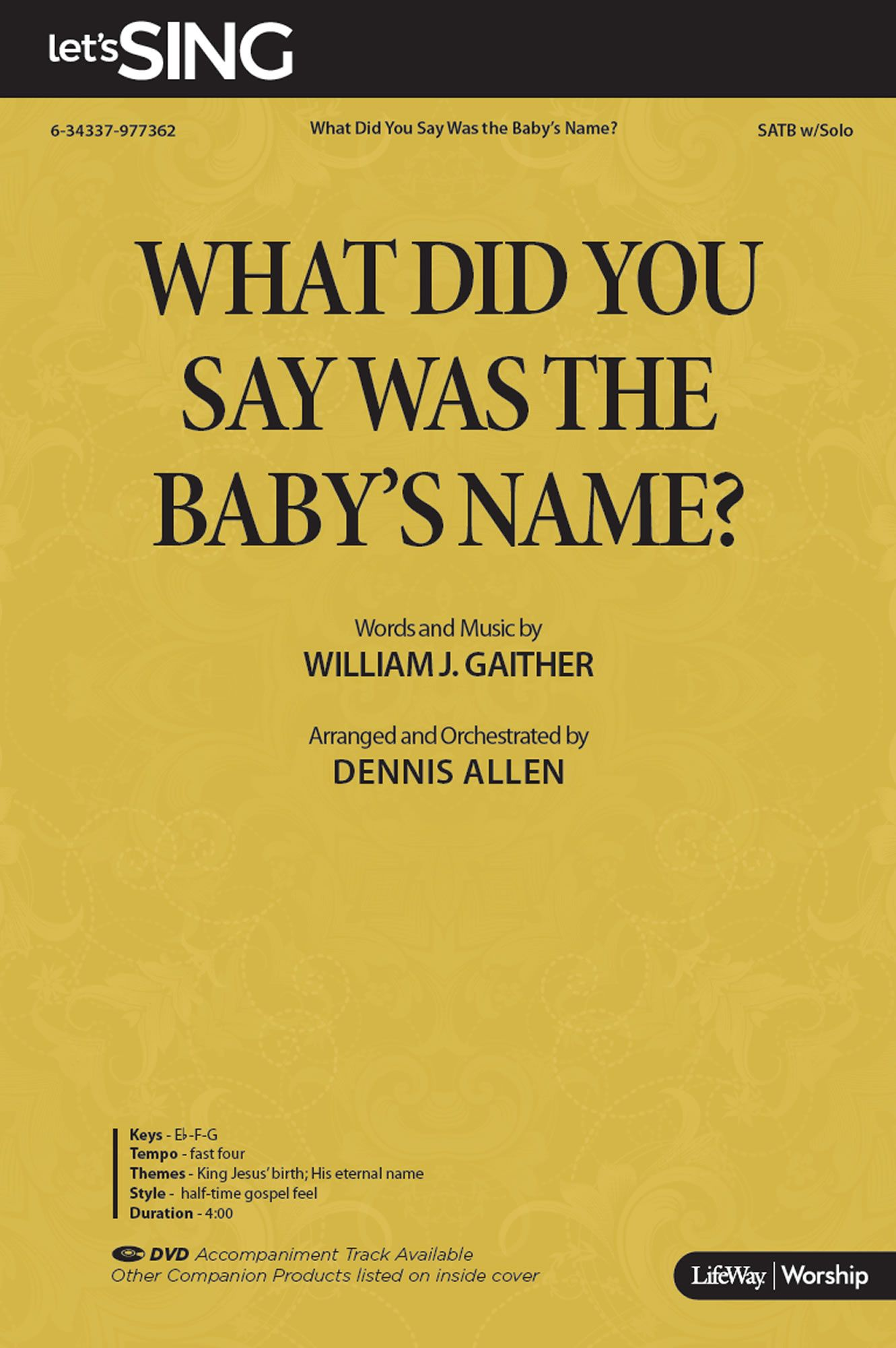 What Did You Say Was the Baby's Name?