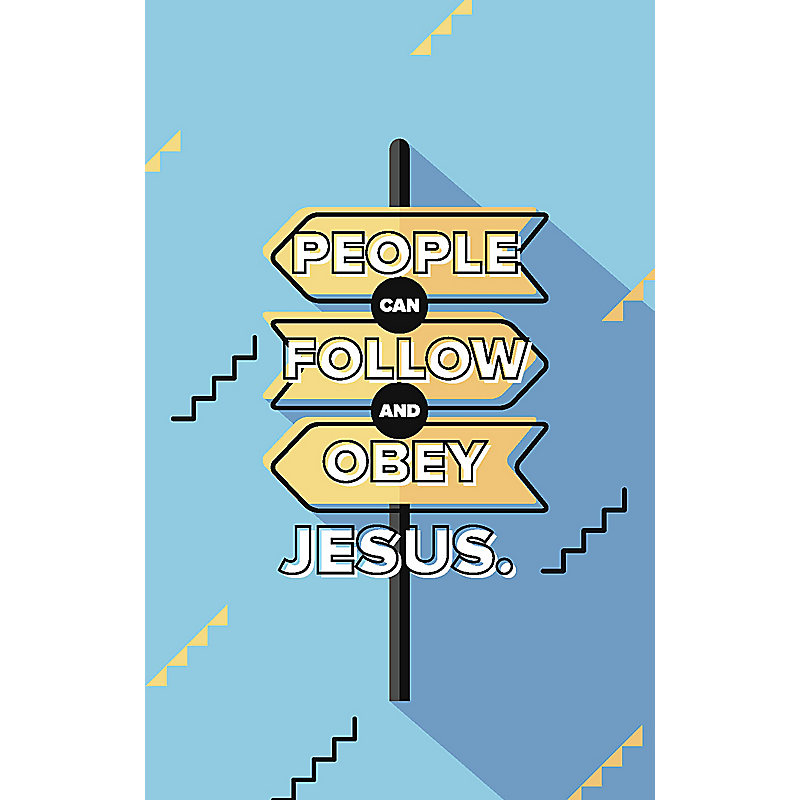 Bible Studies for Life: Kids Follow and Obey Postcards Pkg. 25