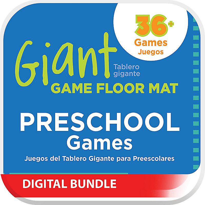 Giant Game Floor Mat - Preschool Games Digital Downloads