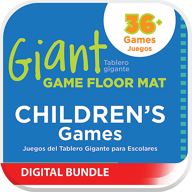 Giant Game Floor Mat - Children's Games Digital Downloads
