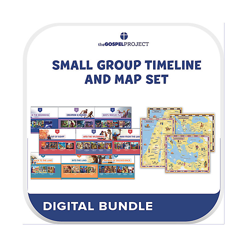 The Gospel Project for Kids: Small Group Timeline and Map Set (Digital)
