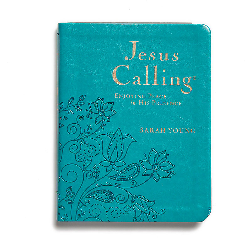 Jesus Calling - Large Print, Deluxe Edition, Turquoise Cover