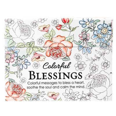 Coloring Cards Colorful Blessings - LifeWay