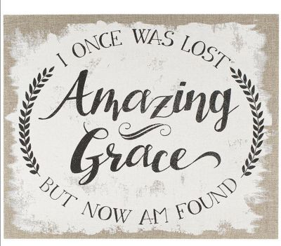 Amazing Grace  Burlap and Wood Wall Art  sc 1 st  LifeWay & Amazing Grace