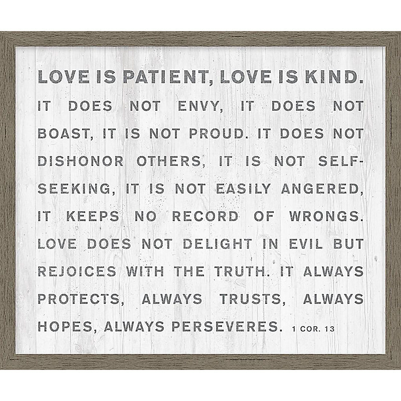 Love Is Patient Print Lifeway