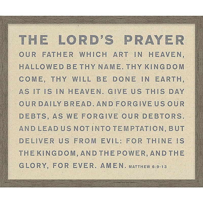 picture regarding Printable Lords Prayer referred to as The Lords Prayer Print