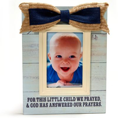 For This Child Baby Frame with Moulding, Blue - LifeWay