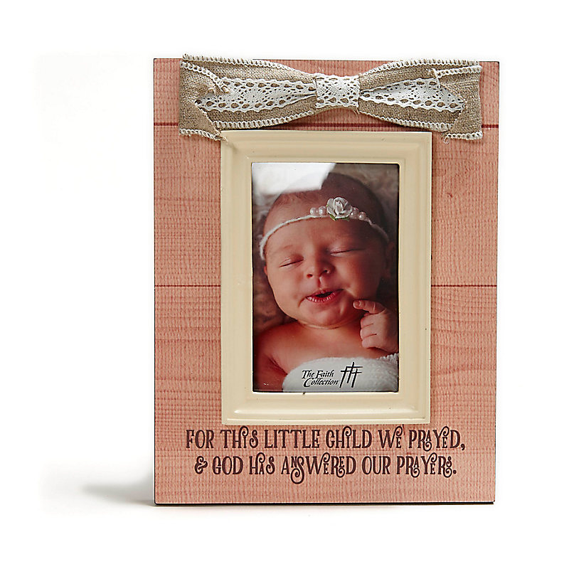 For This Child Baby Frame With Moulding Pink Lifeway
