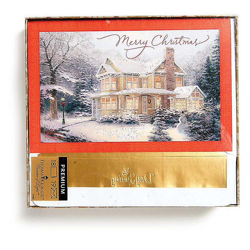 Christmas Boxed Cards - Thomas Kinkade Merry Christmas - LifeWay