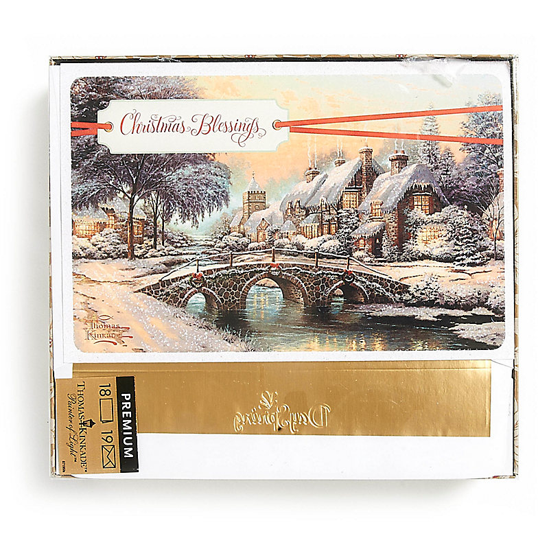 Christmas Boxed Cards - Thomas Kinkade Christmas Blessings - LifeWay