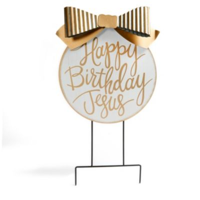 Christmas gifts and products lifeway happy birthday jesus yard stake fandeluxe Image collections