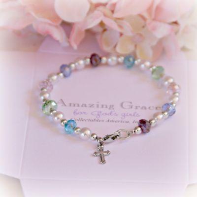 Amazing Grace Glass Pearl Bracelet