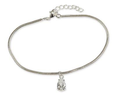 No Tears in Heaven Teardrop Bracelet, Silver