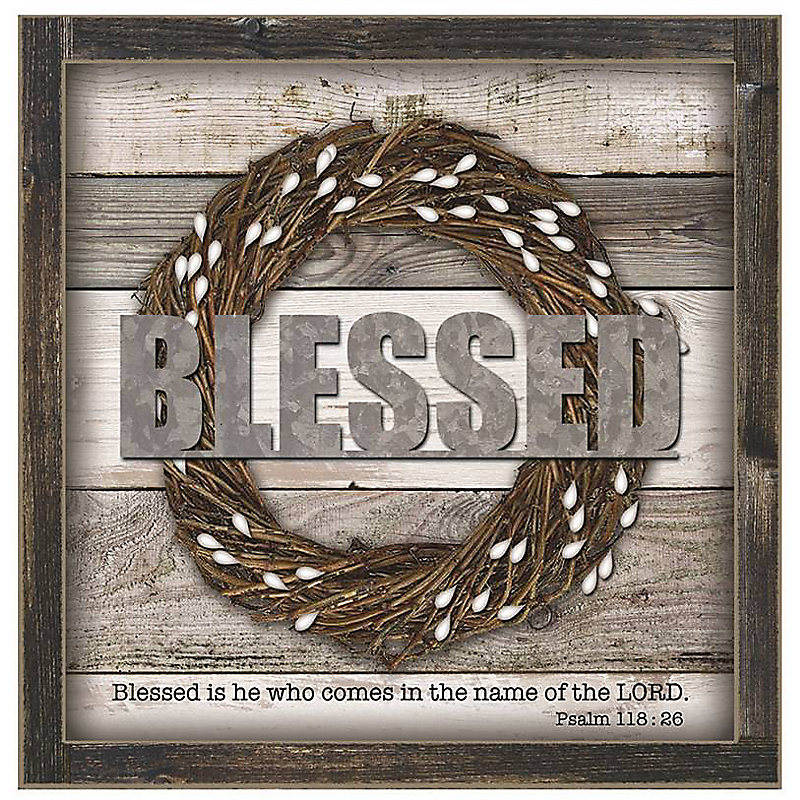 Blessed Wood Box Sign