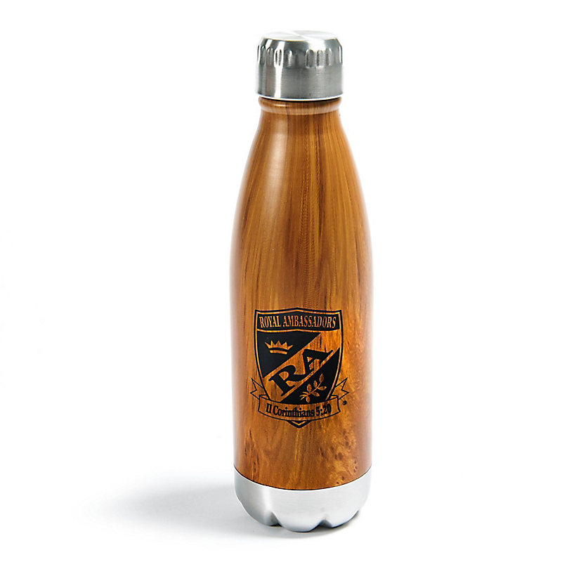 RA Wood Tone Water Bottle
