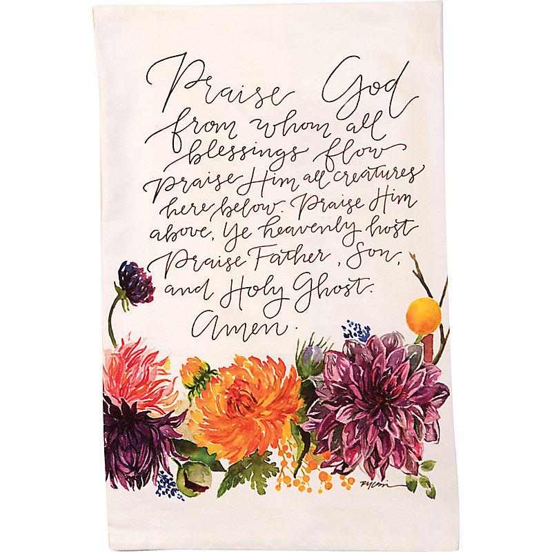 Floral Tea Towel (Doxology)