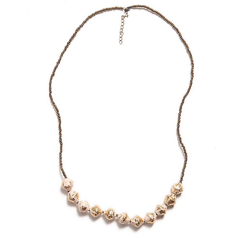 Romantic Necklace, Cream/Gold