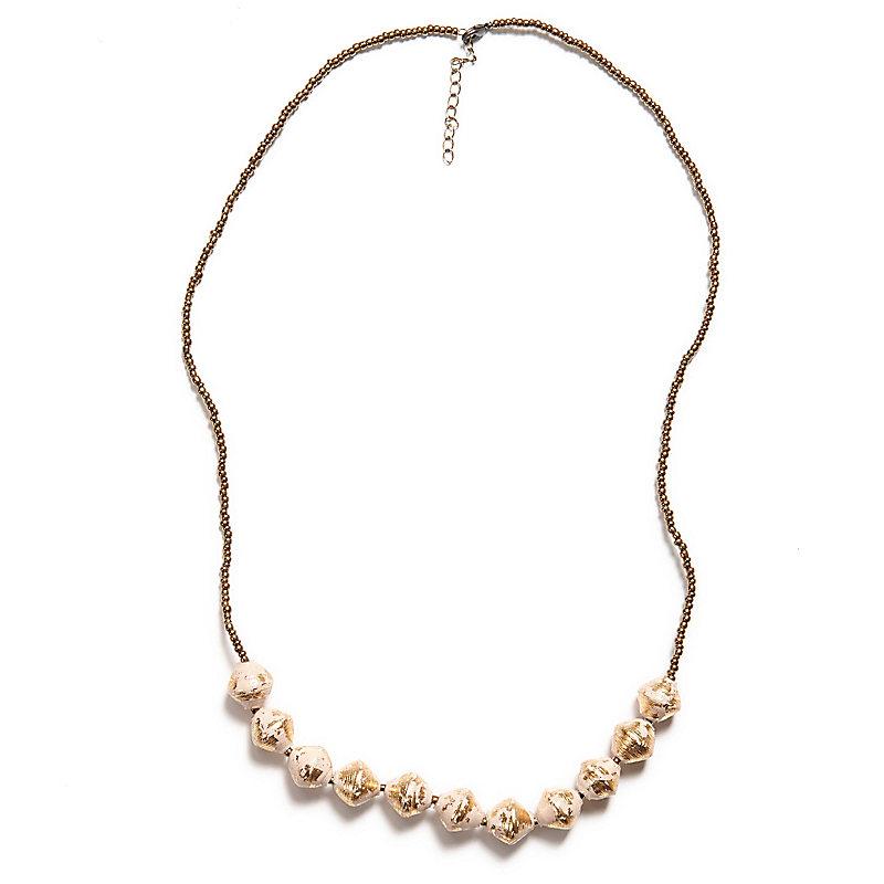 Romantic Necklace, Cream/Gold