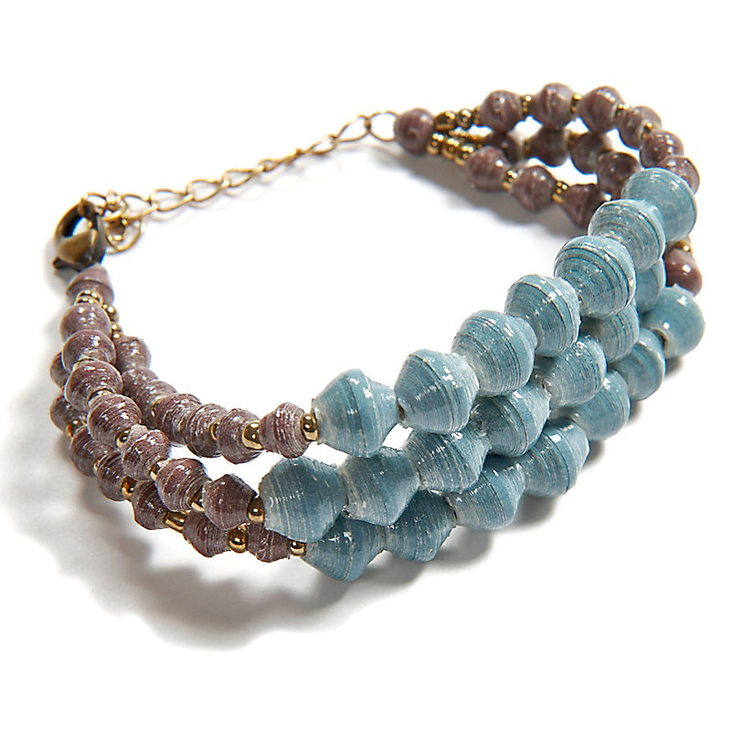 Shadow Edge Bracelet, Light Blue