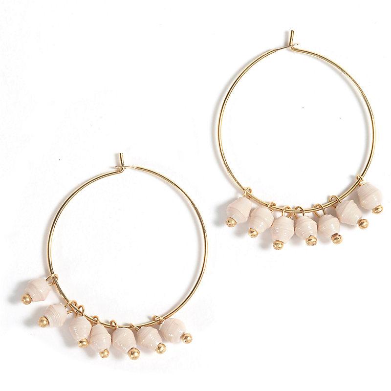 Melah Earrings, Cream