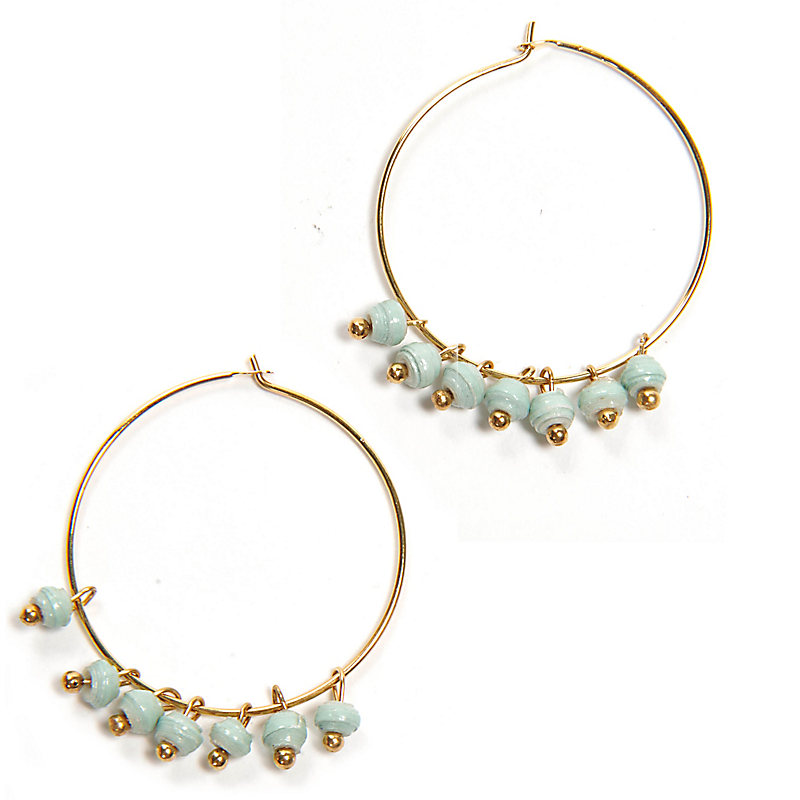Melah Earrings, Mint