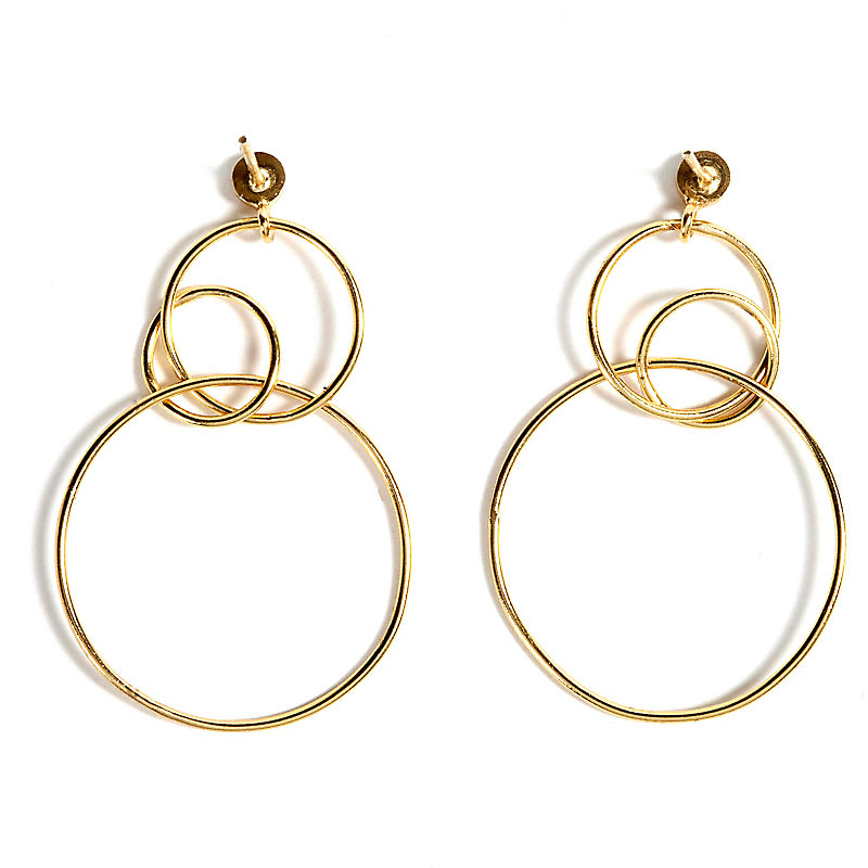 Harmony Earring Hoops, Gold