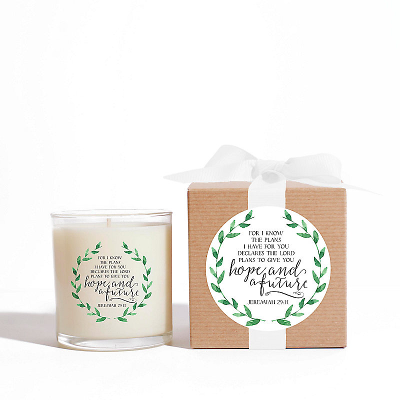 """For I Know The Plans"" Candle, 11 oz."