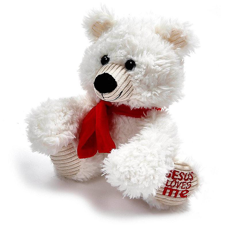 Jesus Loves Me Polar Bear Plush Toy Lifeway