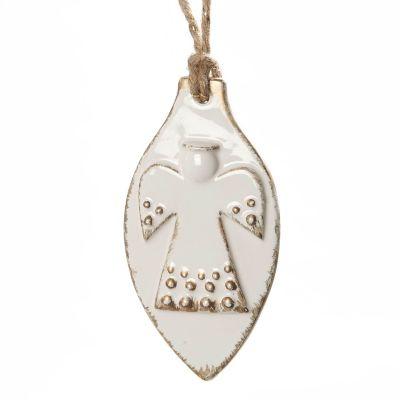 Hark The Herald Ceramic Angel Ornament