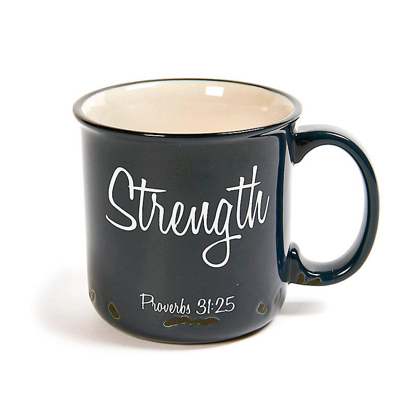 """""""Strength"""" Ceramic Campfire Mug"""