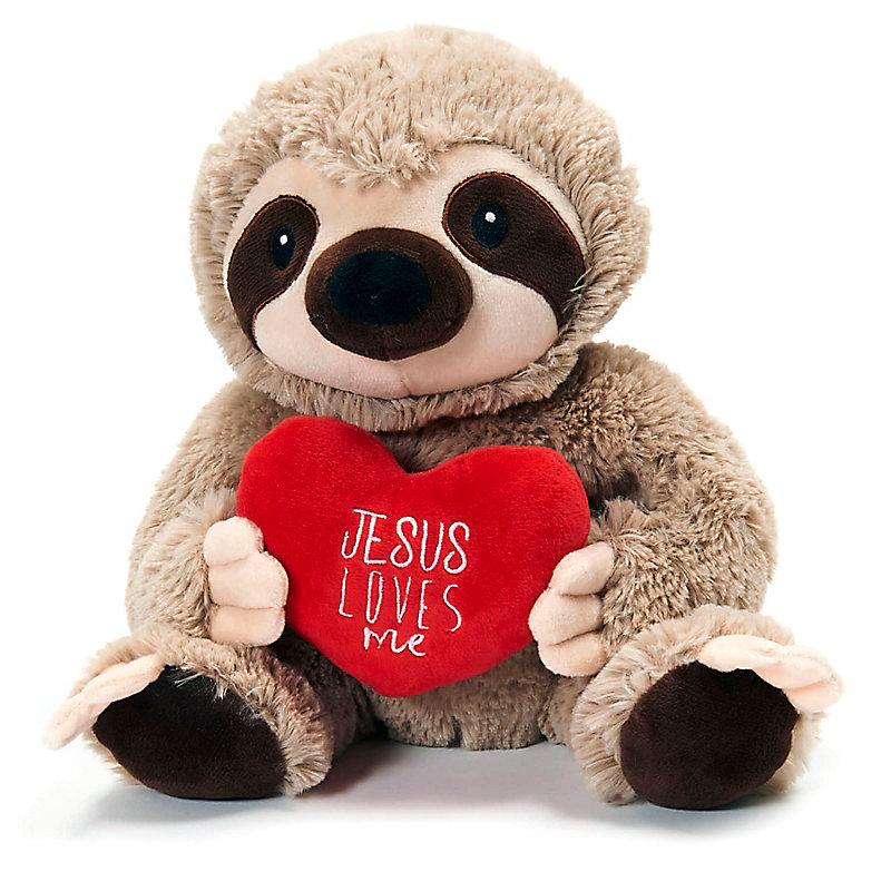 Jesus Loves Me Sloth Plush Lifeway
