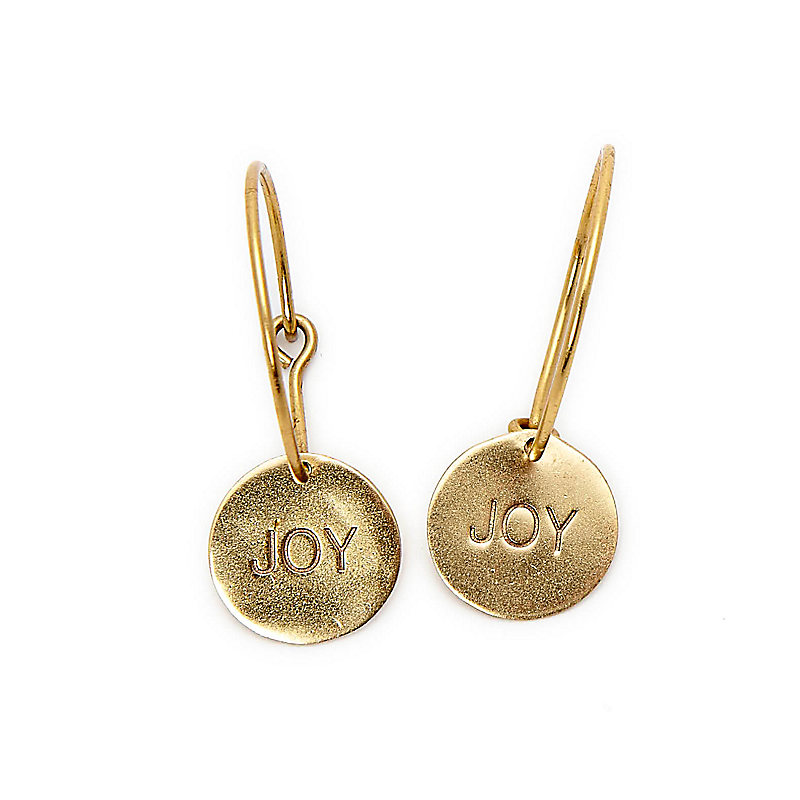 """""""Joy"""" Hoop Earrings"""