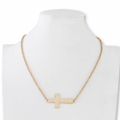 Contemporary Home Living 24 Gold Mens Cutout Cross Dove Necklace with Header Card