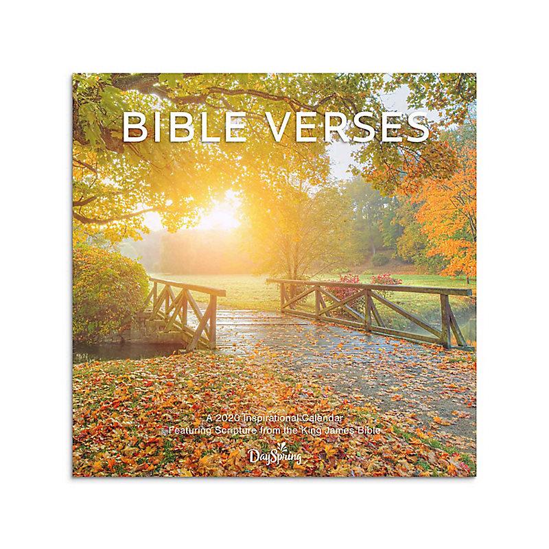 2020 Bible Verses Bridge Wall Calendar   LifeWay