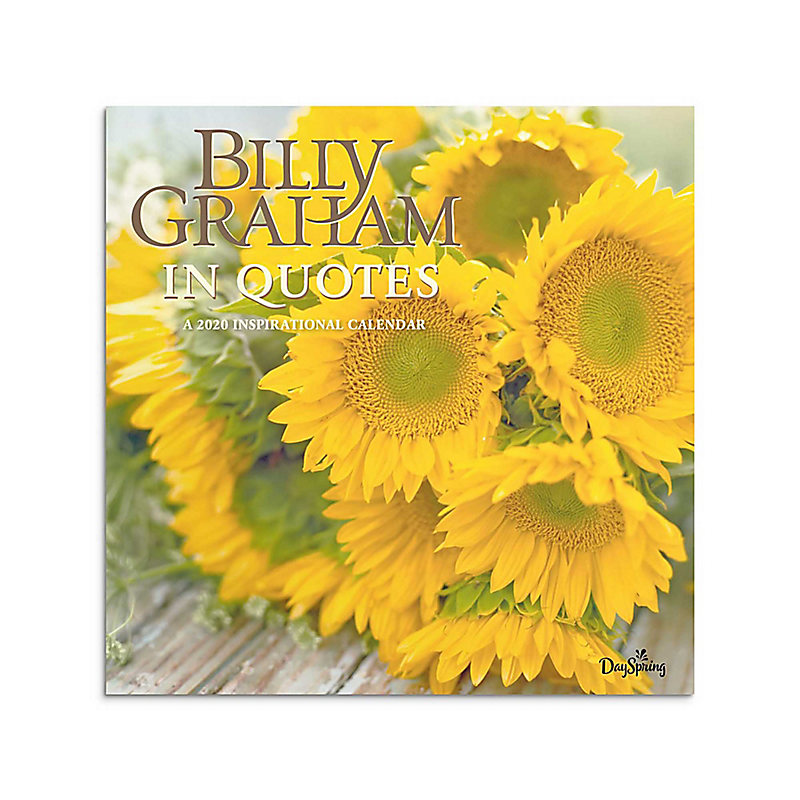 2020 Billy Graham In Quotes Wall Calendar   LifeWay