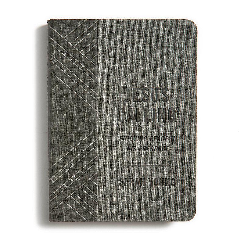 Jesus Calling, Textured Gray Leathersoft Ed.