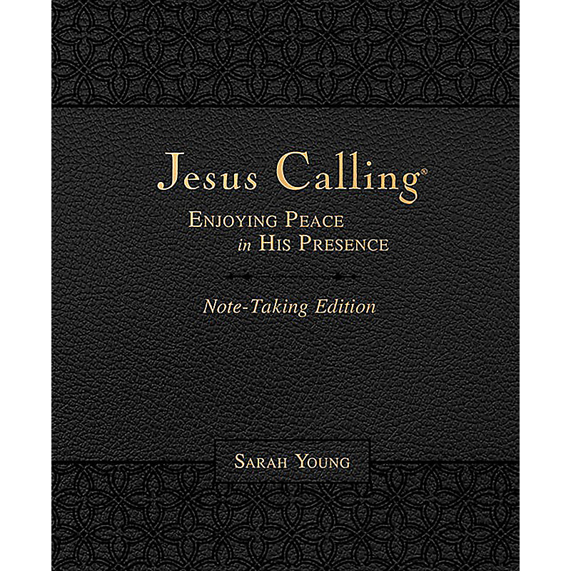 Jesus Calling Note-Taking Edition, Leathersoft, Black, with full Scriptures
