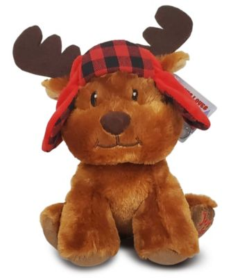 Christmas Moose Plush Toy