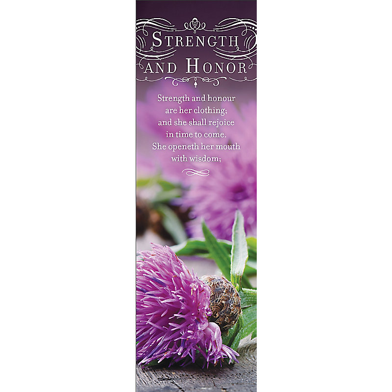 Strength and Honor - Bookmark (Pkg 25) General Worship