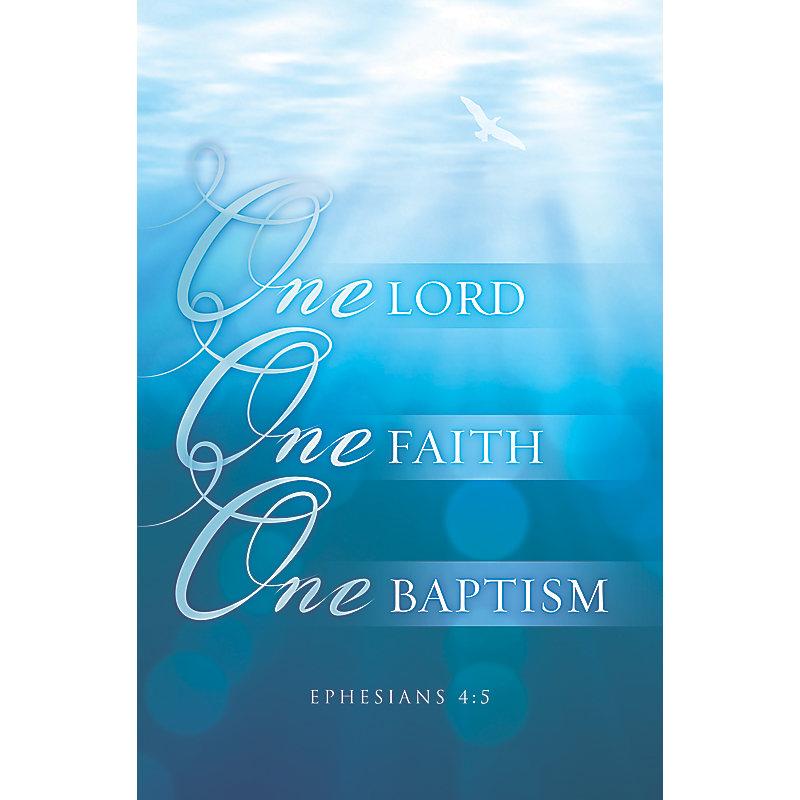 One Lord, One Faith, One Baptism  - Bulletin (Pkg 100) Baptism