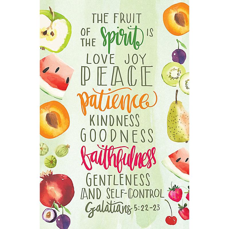 Fruit Of The Spirit - Postcard (Pkg 25)  General Worship