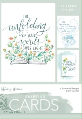 boxed greeting cards unfolding of your word - Christian Greeting Cards