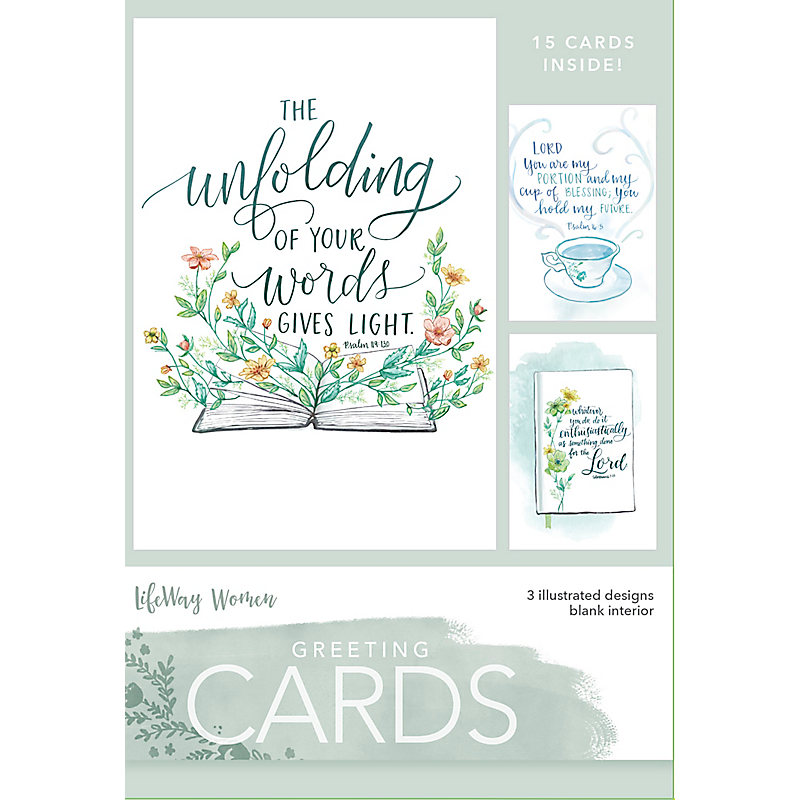 Boxed Greeting Cards Unfolding Of Your Word Lifeway