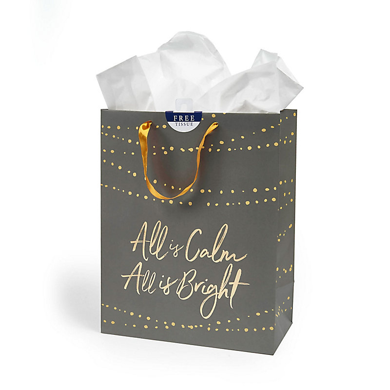 All Is Bright Gift Bag- Large