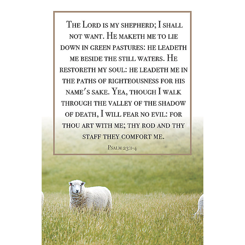 The Lord Is My Shepherd Bulletin Pkg 100 General Worship Lifeway