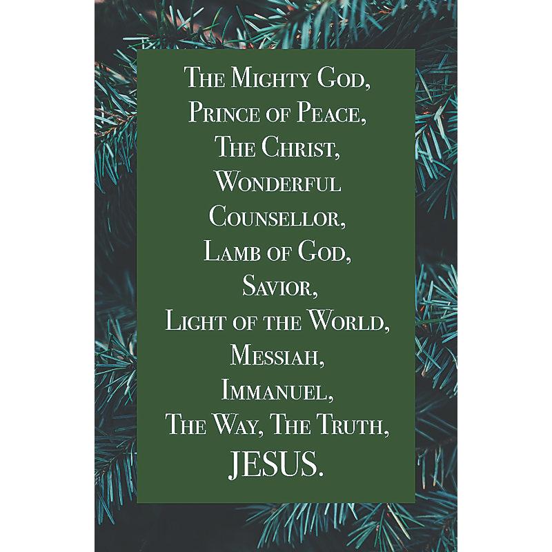 Jesus  Bulletin (Pkg 100) Christmas