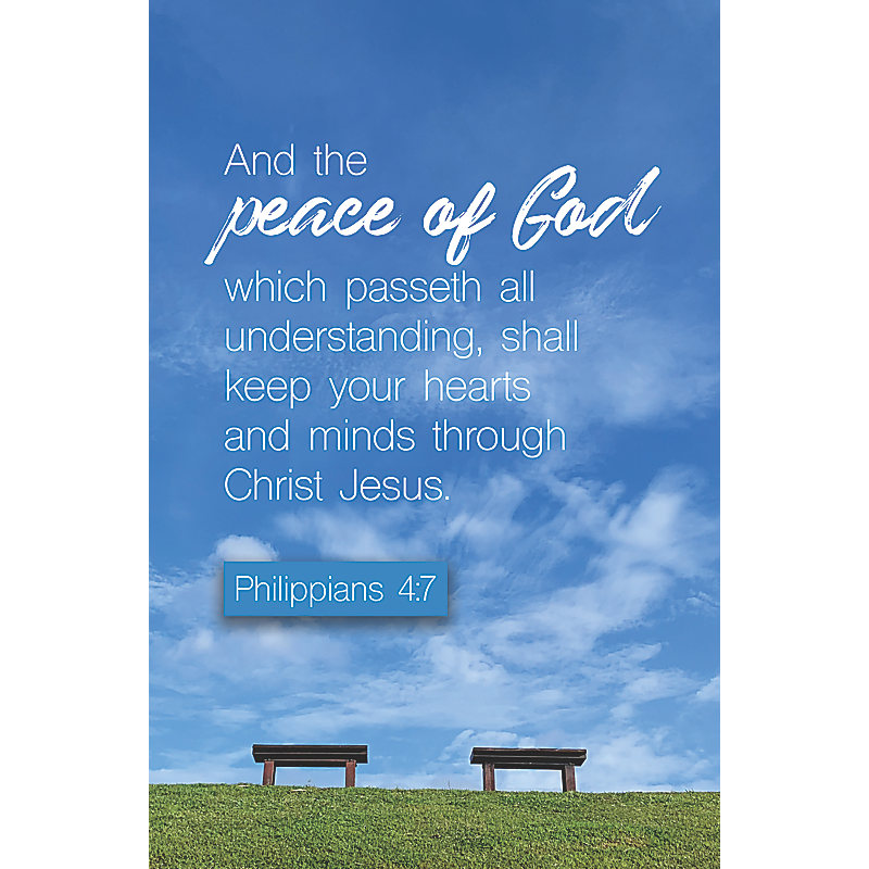 And The Peace  Bulletin (Pkg 100) Funeral