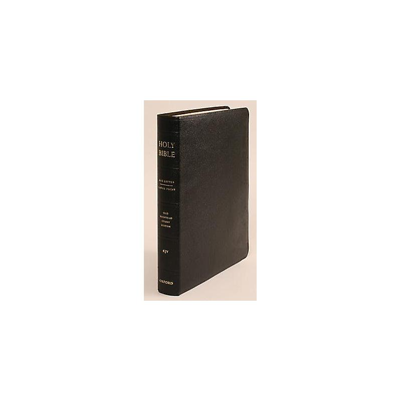 The Old Scofield® Study Bible, KJV, Large Print Edition (Black Genuine Leather)