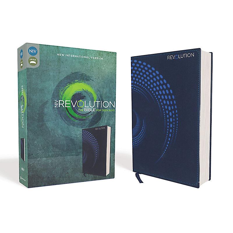NIV, Revolution Bible, Leathersoft, Blue